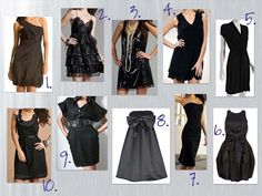 Ideas to design your own LBD. It is easy enough with some black fabric, a bit of black thread, a needle, some buttons, hooks or zips and start small with cheap components. keep it simple.