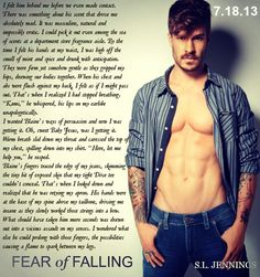 """Fear of Falling by Syreeta Jennings Book Quotes, Me Quotes, Good Books, My Books, Fear Of Falling, Book Trailers, Book Boyfriends, His Hands, So Little Time"