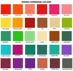 """Spring colors are warm,clear,and bright with medium to light value. Spring belongs in the """" Yellow Based """" palette. And all have a yellow undertone. Spring colors are based on yellow sparkling gold, and as a result are more bright,playful, and intense."""