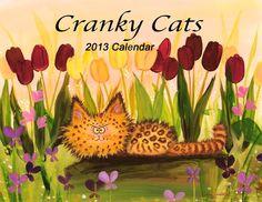 LOVE my CRANKY CAT CALENDAR -  A full year of Cranky Cats. $15.00, via Etsy.