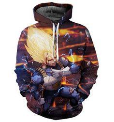 Super Saiyan Vegeta 3D Hoodie