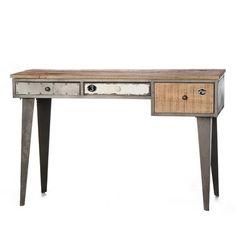 KaunisRetro -tuotesarjan kirjoituspöytä. Kirjoituspöydässäon 3 vetolaatikkoa.Kirjoituspöydässäon musta metallirunko ja muuten se on valmistettu mangopuusta. Monivärinen. Tässä upea katseenvangitsija kruunaamaan sisustuksesi.