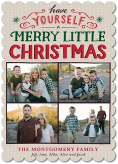 Treasured Yule - Flat Holiday Photo Cards in Winterberry or White | Petite Alma