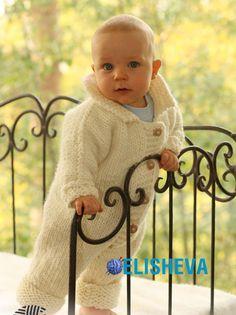 Детский комбинезон на пуговицах от Drops Design, вязаный спицами | Блог elisheva.ru
