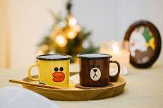 LINE FRIENDS Muurla Character Enamel Mug Cup BROWN SALLY 250ml 2 TYPES #LINExMuurla