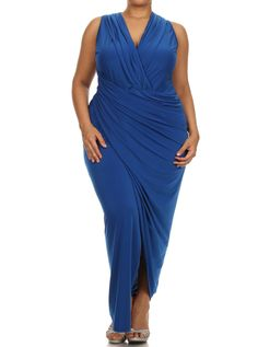 Plus Size Night To Remember Blue Maxi Dress