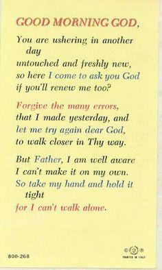 Sunday morning prayer +