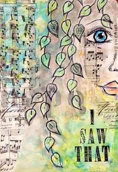 ART JOURNAL PAGE | I SAW THAT | Nika In Wonderland Art Journaling and Mixed Media Tutorials