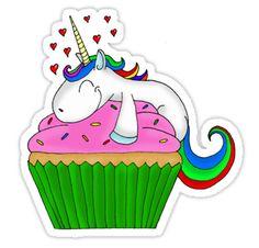 Wir lieben Einhörner. Einhörner lieben Cupcakes. Wir lieben Cupcakes. Runde Sache.