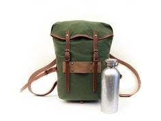 Items similar to Wynnchester Patrol Pack - Heritage canvas & leather day pack / rucksack on Etsy Bushcraft Kit, Canvas Leather, Camping Gear, Bradley Mountain, Backpacks, Trending Outfits, Unique Jewelry, Handmade Gifts, Bags