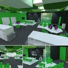 Oficinas. #ArchiCAD #Cinema4D #render #rendering #c4d #design #arquitectura #diseño #architecture #architecturelovers #diseño #model #modeling #furniture #mueble #designing by alegarproyectos