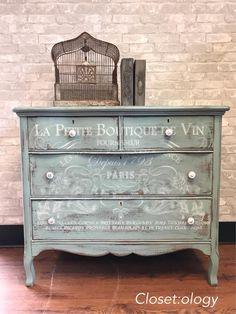 Closet:ology :l: CeCe Caldwell's Chalk + Clay Paint :l: Duck Blue :l: painted dresser :l: farmhouse :l: boho :l: fixer upper :l: painted furniture