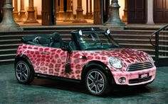 2009 Mini Cooper Convertible by The Blonds for Katy Perry Photo on May 2012 Mini Cabrio, John Cooper Works, My Dream Car, Dream Cars, Pink Mini Coopers, Minis, Mini Paceman, Cute Screen Savers, Cooper Countryman
