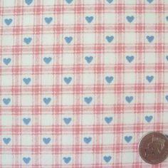 Heart Check Fabric | eBay
