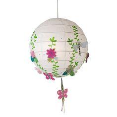 boule japonaise fleurs et papillon