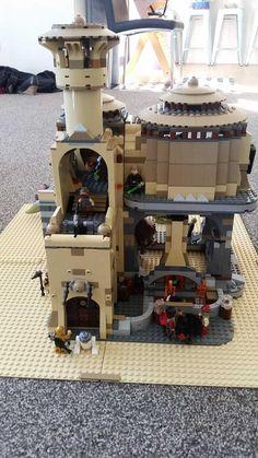 Post with 1471 views. Lego 4, Cool Lego, Star Wars Toys, Lego Star Wars, Modele Lego, Jabba's Palace, Lego Worlds, Custom Lego, Lego Creations