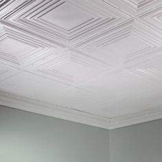 Fasade Ceiling Tile-2x4 Direct Apply-Traditional 3 in Gloss White