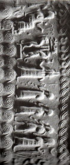 Hitite, Sumerian, Annunaki Seal, Aydın, 1700 BC (Kurt Bittel) (Erdinç Bakla archive)