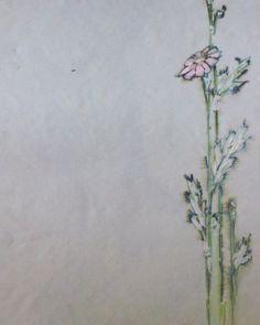 Cosmos flowers ca 1991-1992. #painting #paintings #watercolor #pen_and_ink #penandink