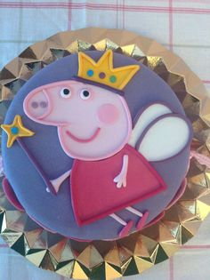 Peppa Pig cake. Puzzle technique tutorial (Step by Step).