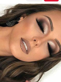 Nude Makeup, Glam Makeup, Eyeshadow Makeup, Hair Makeup, Party Makeup, Brown Lipstick Makeup, Vegas Makeup, Burgundy Makeup, Teen Makeup