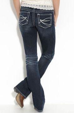 NEW Women's SILVER JEANS Mid Rise AIKO Distressed Skinny Stretch ...