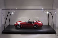 Legacy Motors N/A N/A LED-LIGHTED ACRYLIC DISPLAY CASE for 1/18 Scale Models diecast car