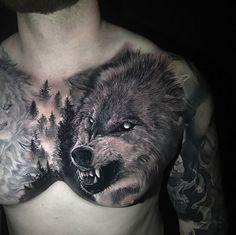 Tattoodotcom on animals wolf tattoos men, viking tattoos и w Wolf Sleeve, Wolf Tattoo Sleeve, Chest Tattoo, Sleeve Tattoos, Tattoo Wolf, Wolf Tattoos Men, Viking Tattoos, Animal Tattoos, Cool Tattoos For Guys