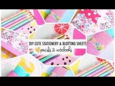 DIY Cute Stationery & Blotting Sheets | #B2SwithRoxy - YouTube