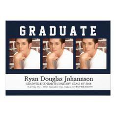 Modern Guy Graduate with Three Photos