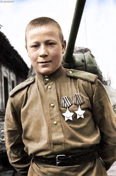 Scout-tanker private IV Anikin. East Prussia, in 1944