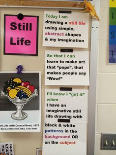 """What we are doing, why we are doing it, and how do we know when we """"got it""""? Ms. Mo's art room"""