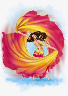 Dance Paintings, Indian Art Paintings, Dancing Drawings, Art Drawings Sketches, Bd Art, Alphonse Mucha, Belly Dance Costumes, Belly Dancers, Fantasy Art