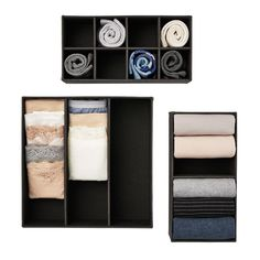 Black Cambridge Drawer Organizers | The Container Store