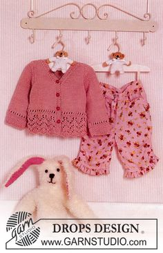 Knitted DROPS Jacket with pattern in Muskat. ~ DROPS Design