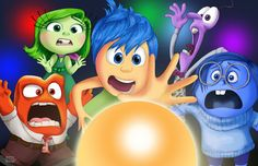 Illustration for movie review of Disney / Pixar latest movie Inside Out.    Illustration by Kitty Rouge