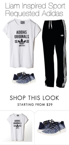 """""""Liam Inspired Sport Requested Adidas"""" by marisaborek ❤ liked on Polyvore featuring adidas"""