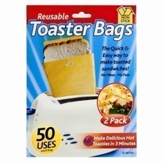 The Home Fusion Company Toaster Bags Reusable Toastie Pouches Non Stick Toasted Sandwich Food Bags Reusable Toaster Bags - Non Stick Toastie Maker These reusable toaster bags are a quick and easy way to make toasted sandwiches. Can be used to make all kinds of toasted (Barcode EAN = 5055875405356) http://www.comparestoreprices.co.uk/december-2016-4/the-home-fusion-company-toaster-bags-reusable-toastie-pouches-non-stick-toasted-sandwich-food-bags.asp