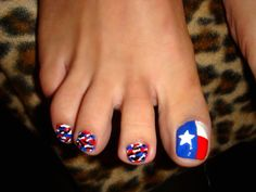 Texas - seriously, what other state? See if you can find some NY painted toe nails hahahahhaha (I can't believe I just said that)