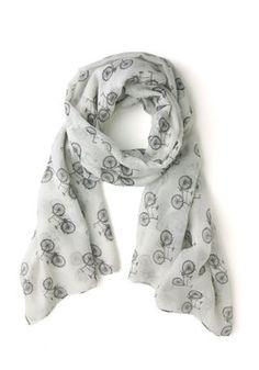 It Takes Two-Wheel Scarf, #ModCloth  Adorable Bicycle Scarf!