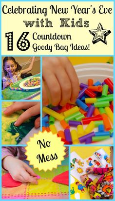 New Year's Eve with Kids - 16 Countdown Goody Bag Ideas #kids #parenting #newyears