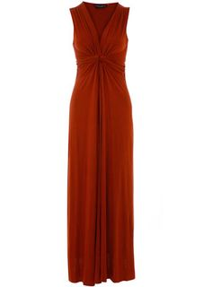 Teracotta Knot maxi dress