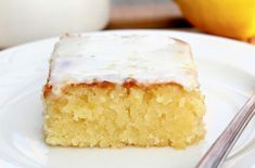 Foodista | Recipes, Cooking Tips, and Food News | Lemon Blondies with Lemon Glaze