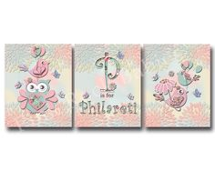 pink owl nursery decor kids room wall decor baby girl room decor children room decor custom baby name kids artwork pink dahlia green nursery by PinkRockBabies on Etsy https://www.etsy.com/listing/215713411/pink-owl-nursery-decor-kids-room-wall