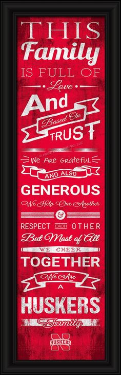 4865504785/848655047854/_B_ This full-color print features an inspiring message and lets everyone know who your family cheers for. The finished piece measures 24 x 8 inches…