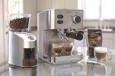 Capresso EC PRO Espresso and Cappuccino Machine, New, Silver Cappuccino Maker, Cappuccino Machine, Espresso Maker, Espresso Coffee, Cozy Coffee, Coffee Scrub, Coffee Latte, White Coffee, Starbucks Coffee