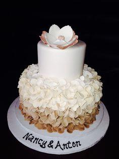 Ombré engagement cake