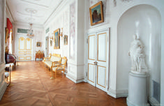 Grand Palais - Intérieur - Pavlovsk - Salle de la Femme d'Honneur de l'Impératrice - Décoré par Vincenzo Brenna entre 1797 et 1799.