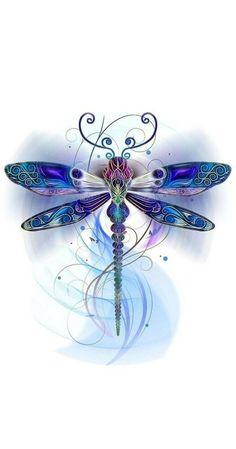 Dragonfly Drawing, Dragonfly Tattoo Design, Dragonfly Art, Butterfly Art, Tattoo Designs, Watercolor Dragonfly Tattoo, Butterflies, Dragonfly Tatoos, Watercolor Tattoos