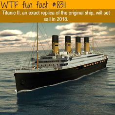 An exact replica of the Titanic will set sail this year  WTF